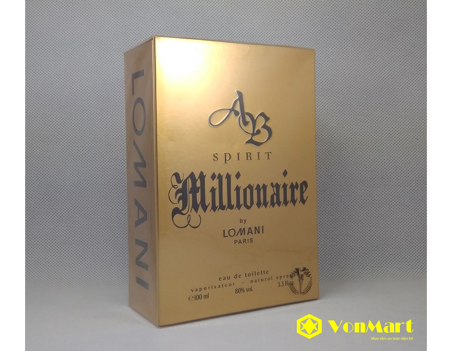 Nước Hoa Lomani Ab Spirit, Millionaire Men, nam tính, thơm lâu, sang trọng, quyến rũ