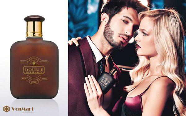 Nước Hoa Nam Double Whisky 50ml, mạnh mẽ, sang trọng, quyến rũ, lưu hương lâu, giá rẻ
