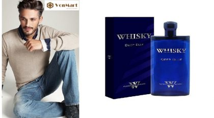 Nước hoa nam Whisky Deep Blue For Men Eau De Toilette 80ml, hương thơm lâu, mạnh mẽ