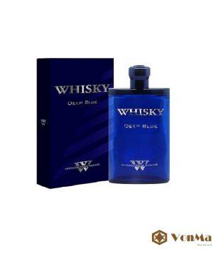 Nước hoa Whisky Deep Blue 80ml, cao cấp của Pháp, hương thơm lan xa mạnh mẽ đầy lôi cuốn