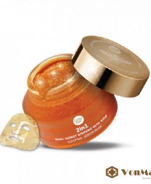 Cathy Doll Honey Gold, mặt nạ ngủ 2in1 Snail Honey Ginseng Gold, chống lão hóa da trắng