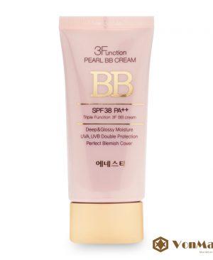 Kem nền Enesti Hàn Quốc, 3 Function Pearl BB Cream, che phủ, dưỡng da, chống nắng