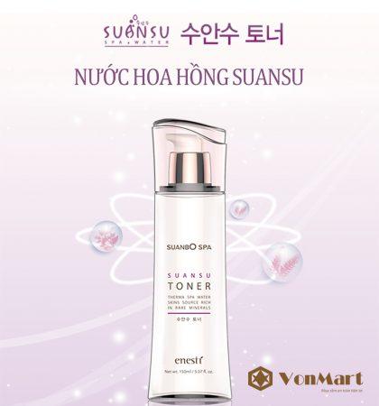 Nước hoa hồng Enesti Suansu Toner 150ml, dưỡng làn da sạch sâu, mềm mịn, đàn hồi, se khít