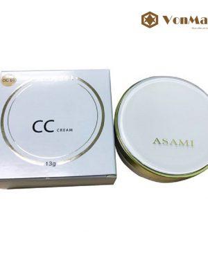 Phấn nước CC Cusion Asami, không kèm lõi, hút dầu, che phủ, cho lớp nền mỏng mịn tự nhiên
