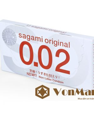 Bao cao su Sagami Original 0.02 Nhật Bản hộp 2 chiếc