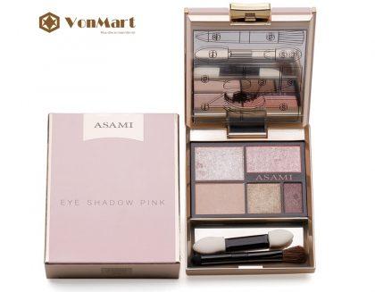 Phấn mắt Asami 5 in 1 Eye Shadow Pink, trẻ trung, ánh nhũ nhẹ nhàng, đôi mắt đẹp quyến rũ