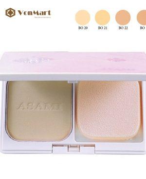 Phấn nền Asami, Ex-White Two Way Powder Make Up SPF15, mỏng mịn, che phủ, dưỡng ẩm
