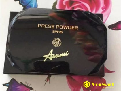Phấn phủ dạng nén Asami Press Powder SPF15, cho lớp phủ mịn đẹp, da sáng trắng tự nhiên