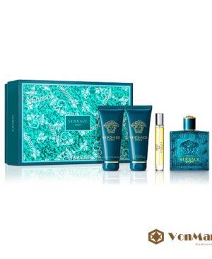 Bộ Quà Tặng Versace Eros, nước hoa, sữa tắm, kem dưỡng sau cạo râu, lưu hương lâu