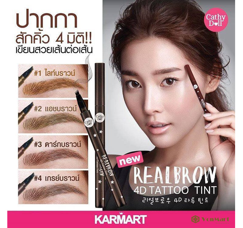 B t k ch n m y realbrow 4d tattoo tint s c n t p t for Cathy doll real brow 4d tattoo tint