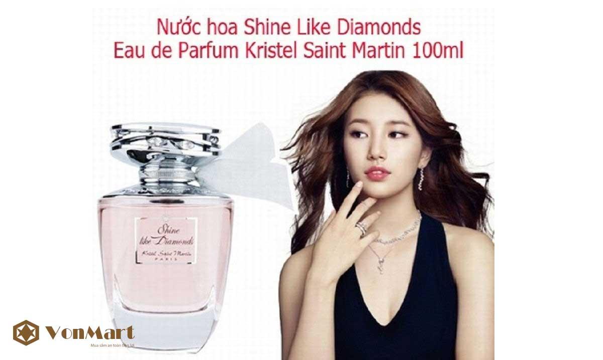 Nước hoa Shine Like Diamonds 100ml, Kristel Saint Martin, Nữ tính, thơm lâu, nhẹ nhàng
