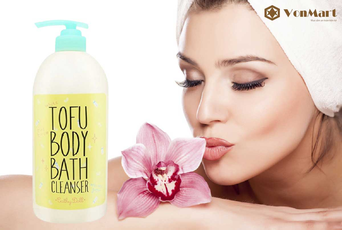 Sữa tắm Tofu Body Bath Cleanser Cathy Doll, da sạch sâu, trắng mềm mịn từ tinh chất đậu hũ