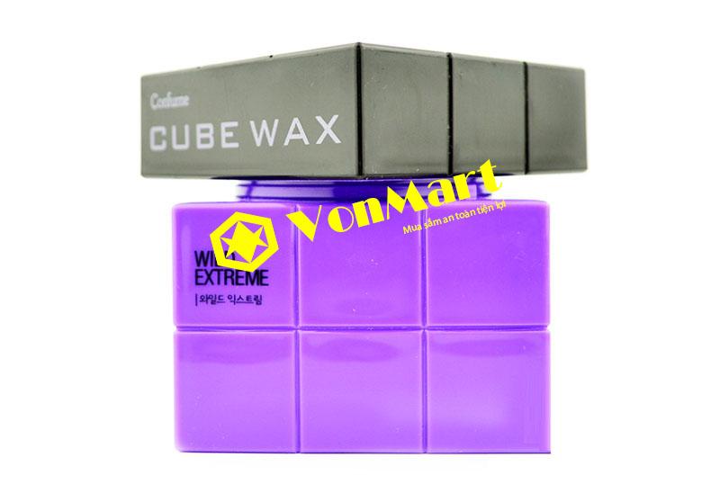 Sáp Cube Wax Wild Extreme, vuốt tóc siêu cứng khô bóng nhẹ cho Nam Nữ