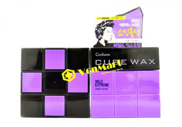 Sáp Confume Cube Wax Wild Extreme, vuốt tóc tạo kiểu siêu cứng, bóng
