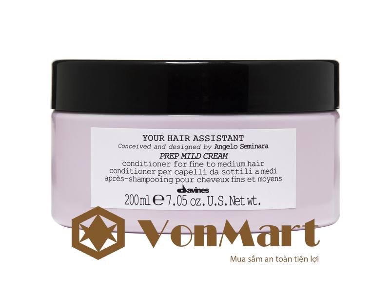 Davines Prep Mild CReam dầu xả dưỡng ẩm cho tóc mỏng