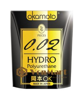 Bao cao su Okamoto 0.02, Hydro Pu siêu mỏng cao cấp truyền nhiệt nhanh
