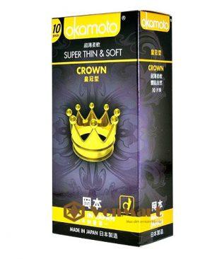 Bao cao su Okamoto Crown, siêu mỏng chỉ 0.04mm mềm mịn kích thích