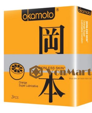 Bao cao su Okamoto Orange mỏng, hương cam kích thích