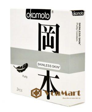 Bao cao su Okamoto Purity, Skinless Skin mỏng, hương thơm tự nhiên