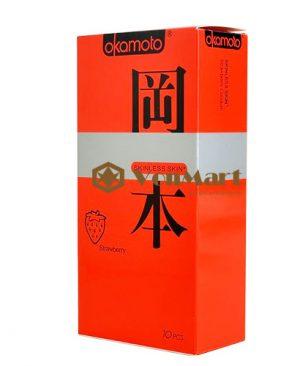 Bao cao su Okamoto Strawberry, hương thơm trái dâu quyến rũ kích thích