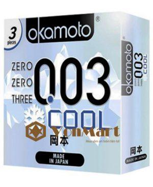 Bao cao su Okamoto 003, siêu mỏng cảm giác thật, chống xuất tinh sớm