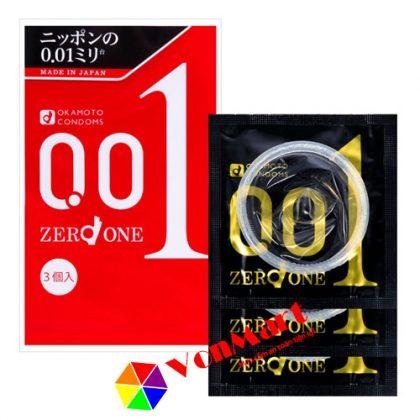 Bao cao su Okamoto 0.01, hàng cao cấp chính hãng, giá rẻ