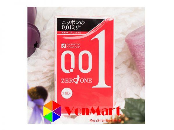 Okamoto 0.01 - Bao cao su siêu mỏng cao cấp, co dãn và tuổi thọ tốt