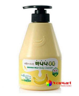 Sữa tắm chuối Banana Milk Body Cleanser, hương thơm dịu nhẹ từ thiên nhiên