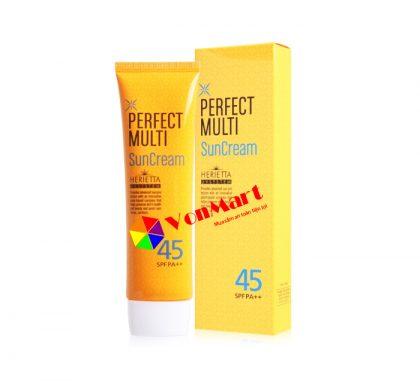 Kem chống nắng Perfect Multi Sun Cream, SPF45+/PA+++ kem lót đa năng