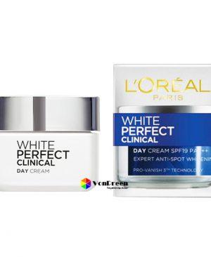 Kem dưỡng trắng da L'oreal White Perfect Clinical, ban ngày trắng sáng