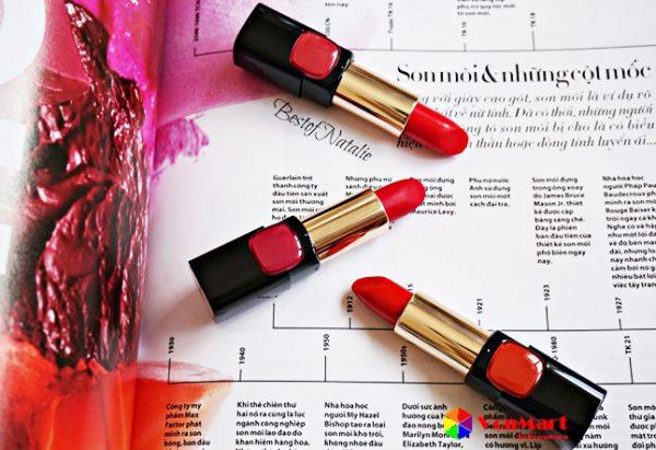 L'oreal Star Red, màu sắc son thời trang, giữ dưỡng màu môi lâu phai