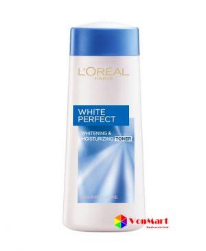 Nước hoa hồng L'oreal White Perfect Toner, cân bằng và khôi phục độ ẩm tối ưu cũng như cải thiện độ trắng sáng