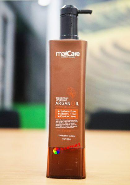 Dầu xả MaxCare Argan Oil Revitalizing Conditioner 800ml, phục hồi tóc
