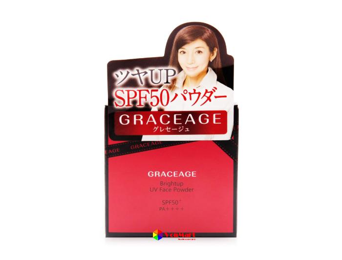 Phấn Graceage, Brightup UV Face Powder 5g hạt bột phấn siêu mịn
